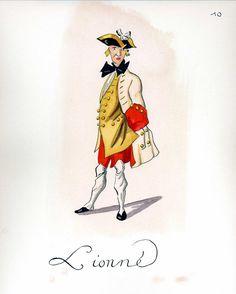 French Army 1735 - Infantry Regiment Lyonnaise, by Gudenus.