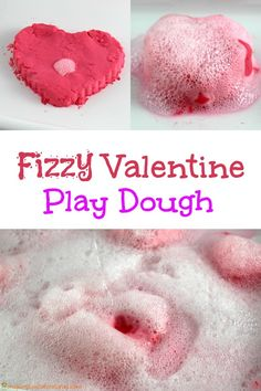 Fizzy Valentine Play Dough is a soft and squishy dough that fizzes and bubbles when you add vinegar.