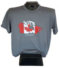 Canadian T-shirt that is Made in Canada too! Available in multiple colours and fitted styles.