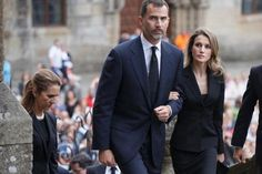 TRH The Prince and Princess of Asturias arrive for the funeral mass for train victims