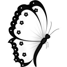 Lacarolita_Black & White butterfly3.png ❤ liked on Polyvore featuring butterflies, fillers and backgrounds