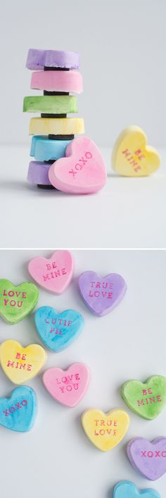 Adorable Conversation Heart Magnets for Valentine's Day