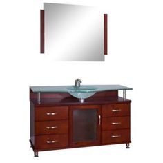 "ALYA-BW-700-56-C-FGT 56"" Cherry Single Modern Bathroom Vanity 