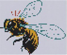 Bee 2 Cross Stitch Pattern  pattern on Craftsy.com