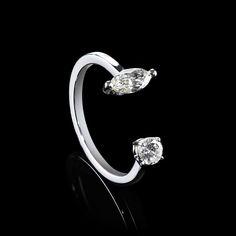 DOUBLE DIAMOND RING - MARQUISE ROUND | Rosenzweig Jewelry - Juwelier & Schmuckdesign