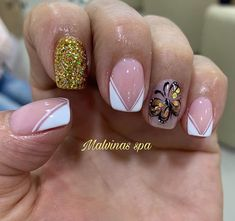 French Manicure Nail Designs, Winter Nails, Erika, Gel Nails, Beauty, Pretty Nails, Work Nails, Decorations, Short Nail Manicure
