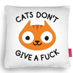 "Make a bold interior statement with this lovely cushion.The ""CARELESS WHISKER"" Cushion features a cute illustration by cult illustrator David Olenick. This cushion is perfect for all you cat lovers out there and will give a quirky design feature to any sofa or chair.Dimensions: 43x43cm (contains 50x50cm insert to keep it plump).Machine washable at 30°c and hand made In UK.The cushion has a stone coloured back cover - and zip fastening."