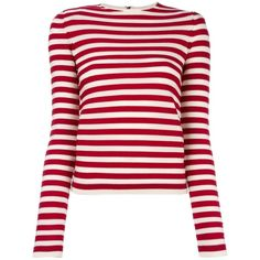 Sonia Rykiel striped jumper (430 NZD) ❤ liked on Polyvore featuring tops, sweaters, shirts, jumper, white, stripe top, sonia rykiel, shirt sweater, white top and striped jumper