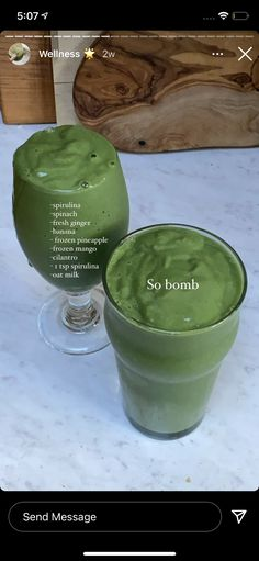 Healthy Smoothies, Healthy Drinks, Smoothie Recipes, Healthy Snacks, Healthy Eating, Healthy Recipes, Green Smoothies, Think Food, Love Food