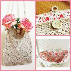 Rachel Bag PDF Knitting & Crochet Pattern + How to Crochet an i-cord