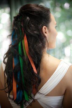 Rainbow ribbons & curls | Offbeat Bride