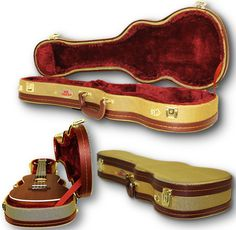 Complete Piano Player Ukulele case - Protect your concert ukulele with this stylish, sturdy hard case. Its tweed exterior paired with gold hardware give it a distinguished, classy look. Kala Ukulele, Ukulele Case, Tenor Ukulele, Ukelele, Piano Shop, Keyboard Piano, Cheap Guitars, Kalimba, Cigar Box Guitar