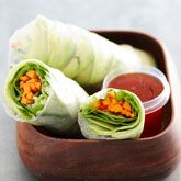 Avocado & Salad Rice Paper Rolls