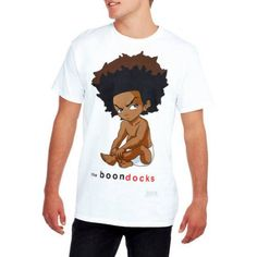 Boondocks Huey Men's Graphic Tee, White
