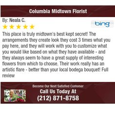 This place is truly midtown's best kept secret! The arrangements they create look they...