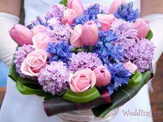 Лиловый свадебный букет для любимой невесты