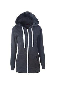 9cbf705db9c61 Suvotimo Women Casual Pullover Fleece Full Zip Up Hoodie Sweater  Sweatshirts Tops