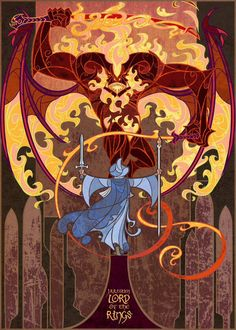 Lord of the Rings illustrations by Jian Guo, #2 You cannot pass.