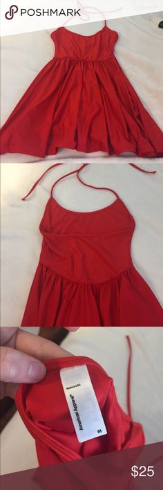 American Apparel Red Skater Dress Medium NWOT red american apparel skater dress size medium. open back and halter top. Always willing to take a lower offer— just offer! American Apparel Dresses