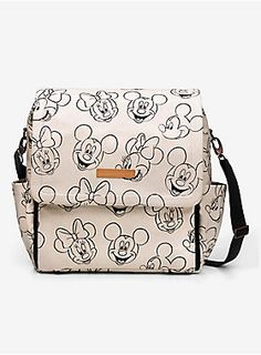Every Disney Mama needs this diaper bag! | Petuna Pickle Bottom Disney Minnie And Mickey Mouse Sketch Boxy Backpack
