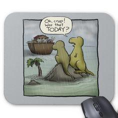 Shoebox Dinosaurs Mouse Pad