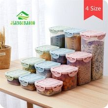 Kitchen Half Flip Food Storage Box Storage Tank Airtight Plastic Containers Sealed Cans For Coarse Cereals Grains Food Storage Boxes, Storage Containers, Storage Organization, Korn, Grain Storage, Portable Blender, Cooking Appliances, Buy Kitchen, Plastic Containers