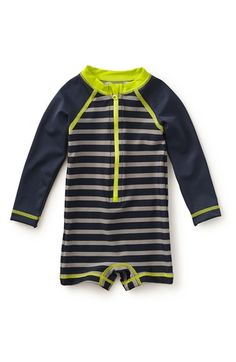 Tea Collection 'Fontana' One-Piece Rashguard Swimsuit (Baby Boys)
