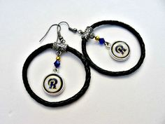 NFL St. Louis Rams Leather Hoop Charm Earrings by SportsJewelryStudio on Etsy.  etsy.com/shop/sportsjewelrystudio