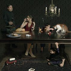 Dinner Party, 2005  by Julie Blackmon  Photograph