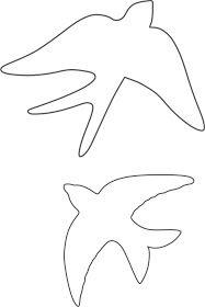 Coisas de Fazer: Molde Andorinha Portuguesa :: Mold Portuguese Swallow