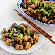 Recipe for Mark Bittman's Ginger Chicken with Mushrooms and Thai Flavors  [from Kalyn's Kitchen] #LowCarb  #SouthBeachDiet