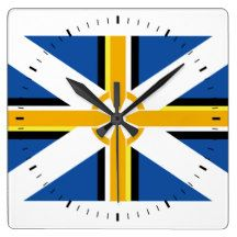Celtic Federation Flag Wall Clock