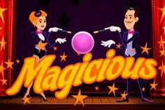 Geniet van de echte magie! Speel grappige Magicious gokkast van Thunderkick met 5 rollen en 10 vaste win lijnen. Het spel bevat expanding wilds met respins en twee way wins. Speel samen met twee echte tovenaars op Online Casino HEX!!