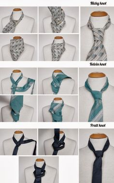 Three Ways To Tie Necktie