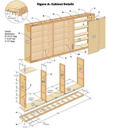 Mount the cabinet to the wall Workshop KKEEYY woodworking plans Giant DIY Garage Cabinet Plans Build your own shelving and storage area Toys Diy Garage Storage, Garage Shelf, Basement Storage, Garage Organization, Storage Ideas, Garage Shelving, Bike Storage, Tool Storage, Closet Shelving