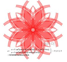 parametric curve like a beautiful red flower