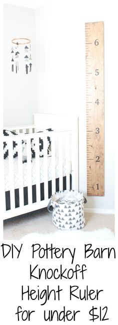 DIY Pottery Barn Knockoff Height Ruler for less than $12!   www.SincerelyJean.com