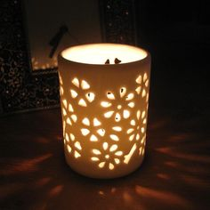 ceramic candle holders | Shearer Candles - Ceramic Pierced Tealight Holders