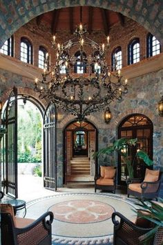Entryway decor always need a luxurious suspension lamp. Discover more luxurious interior design details at luxxu.net