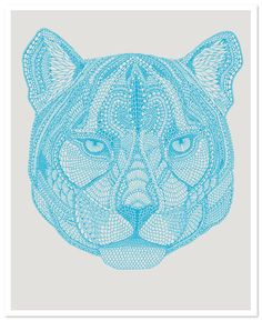 Mountain Lion drawn for Burton Snowboards by Claire Scully