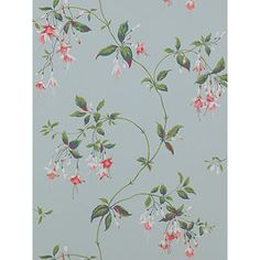 Buy Pink / Green Colefax & Fowler Octavia Wallpaper from our Wallpaper range at John Lewis & Partners. Free Delivery on orders over Green Wallpaper, Wallpaper Online, Accessories Shop, John Lewis, Pink And Green, Aqua, Home And Garden, Diy, Stuff To Buy