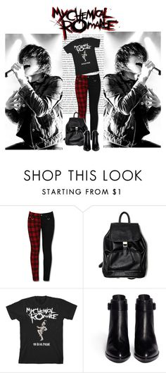 """""""Gerard Way / My Chemical Romance"""" by irresistible-livingdeadgirl ❤ liked on Polyvore featuring Oris, Alexander Wang, mcr, gerardway, mychemicalromance, killjoys and hesitantalien"""