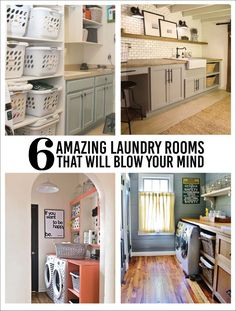 6 Amazing Laundry Rooms that Will Blow Your Mind | Find inspiration for your laundry room | www.thirtyhandmadedays.com