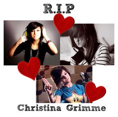 """""""R.I.P Christina Grimme"""" by gracet-broadway-baby1 on Polyvore featuring art"""