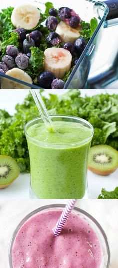 Freezer Smoothie Tips and Recipes - You won't believe how making freezer smoothie packs ahead of time will transform your mornings! Mango Kale Smoothie, Kale Smoothie Recipes, Smoothie Vert, Smoothie Drinks, Make Ahead Smoothies, Breakfast Smoothies, Healthy Smoothies, Healthy Drinks, Healthy Snacks