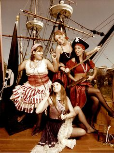 Bachelorette party ideas from Offbeat Bride: Old school slumber party, Boudoir photo shoot, Trapeze Class, Ugly Dress Party, and more! Bachelorette Party Themes, Bachlorette Party, Bachelorette Weekend, Pirate Wedding, Offbeat Bride, Bridezilla, Maid Of Honor, Party Favors, Party Party