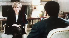 PHOTO: The Princess of Wales is interviewed by the BBC's Martin Bashir (R) in the current affairs program, Panorama, 20 November 1995 where Lady Diana discussed with apparent candor her life and problems with her husband, Prince Charles, the royal family