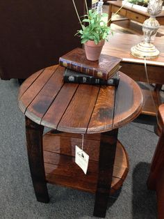 Love Our New Barrel Tables We Got At Millers Furniture In Plain City