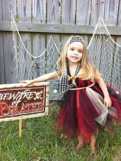 Arrrrgh My little Pirate Halloween Tutu Dress Costume