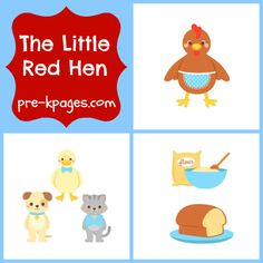 Little Red Hen Ideas & Activities for Pre-K and Kindergarten via www.pre-kpages.com